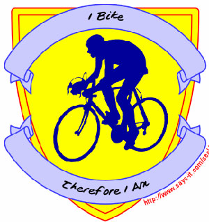 Cycling Dude Badge